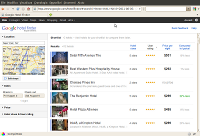 Schermata Google Hotel Finder